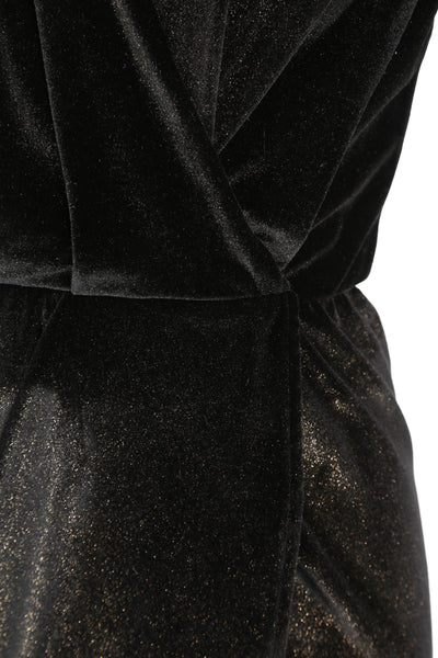Dress Aldi Short Velvet Black/Gold