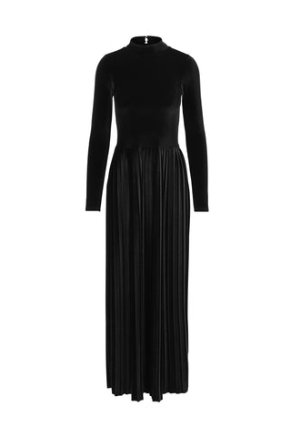 Dress Long Black Velvet