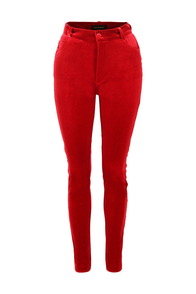 Trousers MI Velvet Red