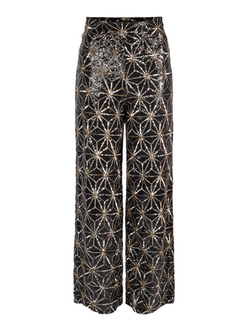 NEW ONLINE Trousers Imona Black/Gold