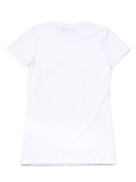 T-Shirt Nina White w.Blue