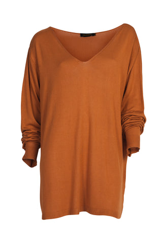Jumper Mika Silk Rust -Black