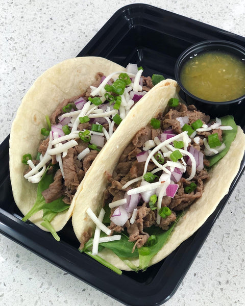 All Natural Shaved Steak Tacos