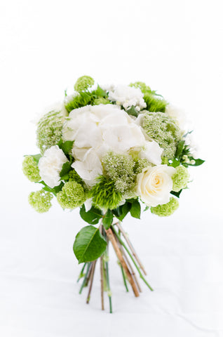 Buchet white & green