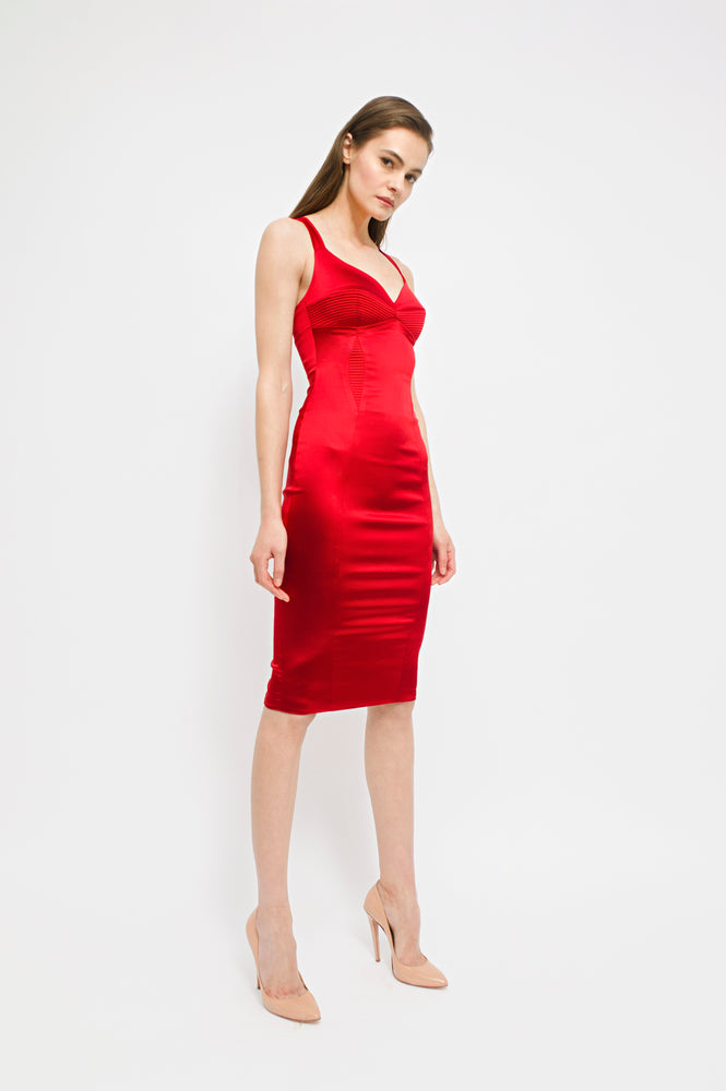 Haze Dress, Red, Murmur