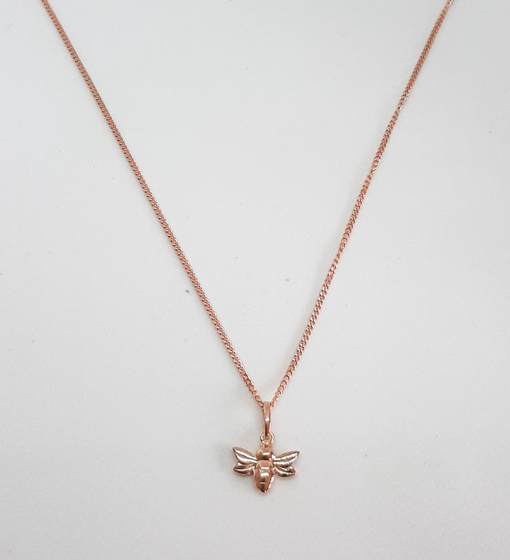 Rose Gold Small Bee Pendant