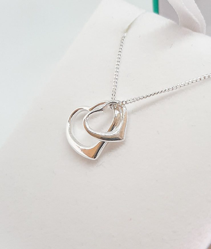 Silver Double Heart Pendant