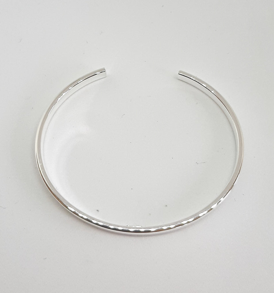 Silver Plain Open Cuff Bangle