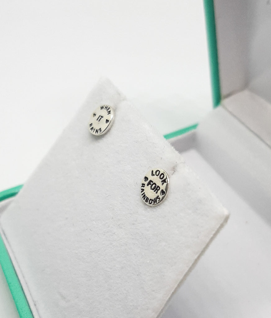 Silver When It Rains Stud Earrings