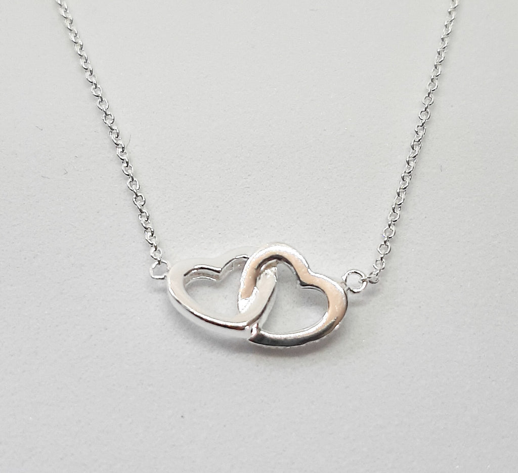 Dew Linked Hearts Necklace