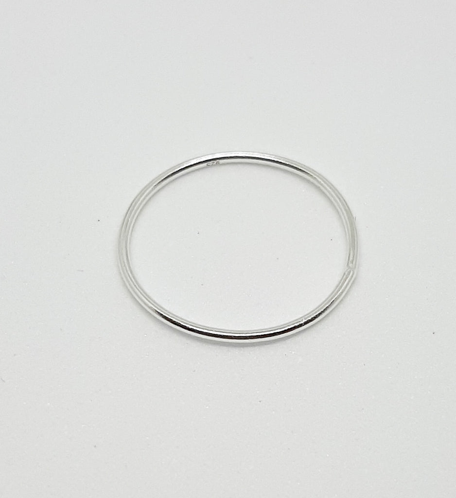 Plain Silver Band Stacking Ring