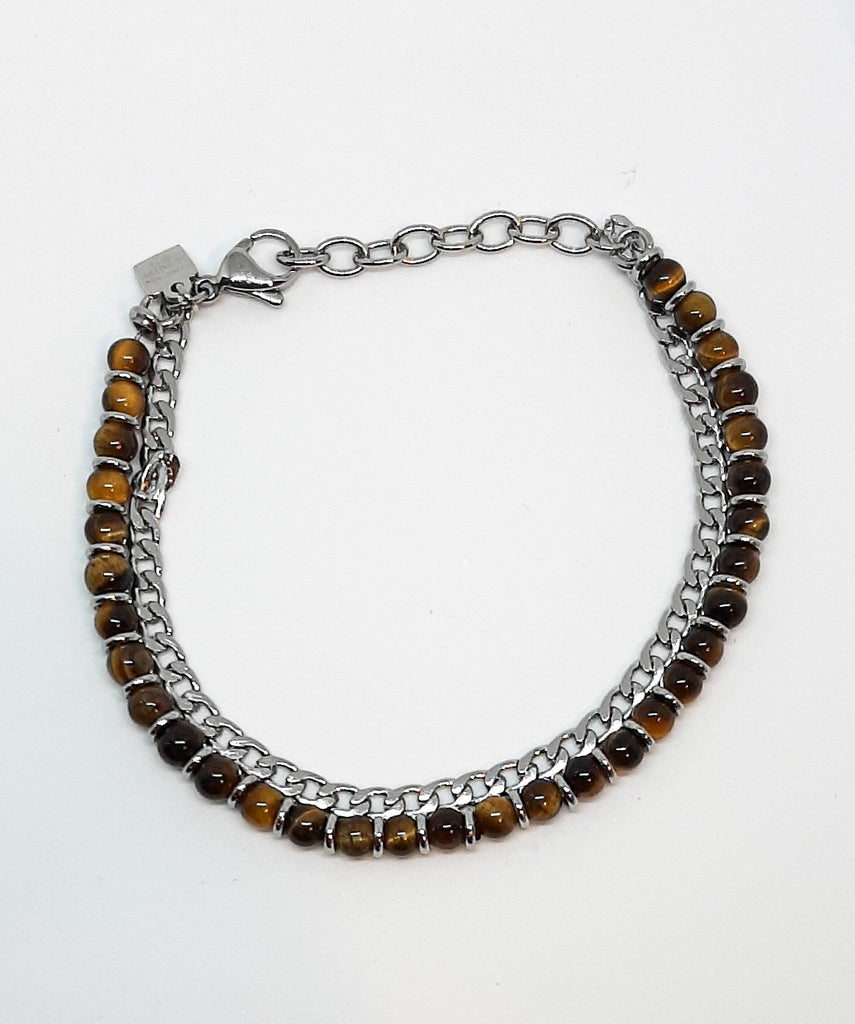 Nomination Tigers Eye 2 Chain Bracelet