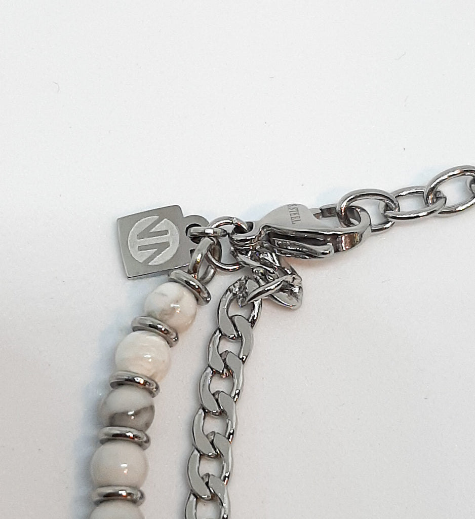 Nomination White Agate 2 Chain Bracelet