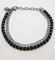 Nomination Black Onyx 2 Chain Bracelet