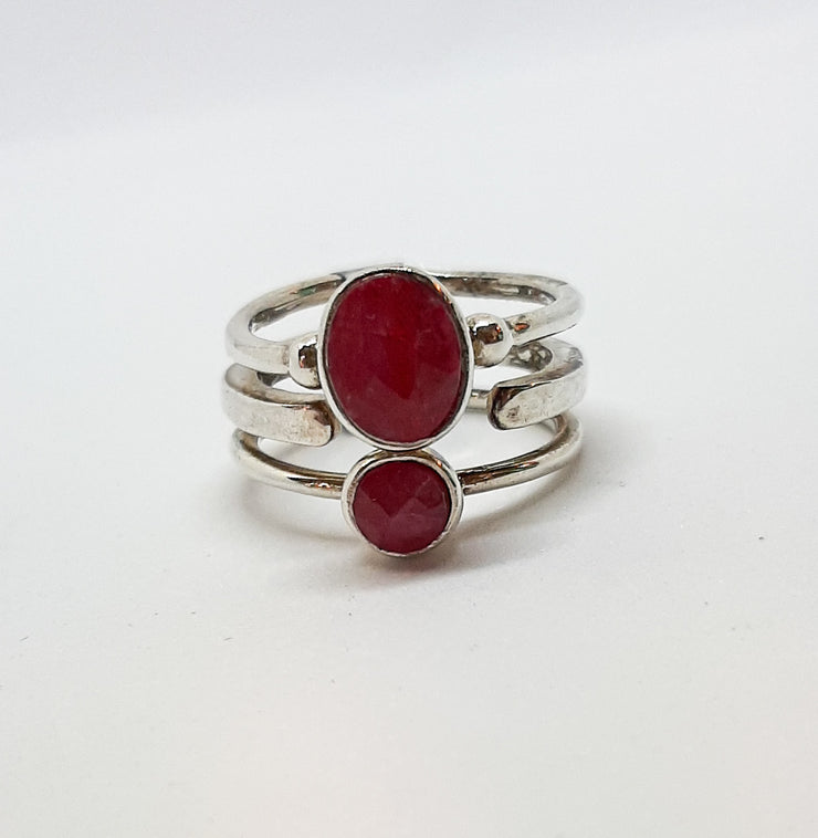 Tripple Band Ruby Ring