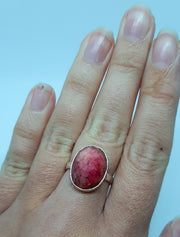 Large Plain Oval Ruby Ring