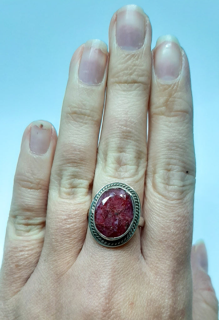 Large Oval Victorian Edge Ruby Ring