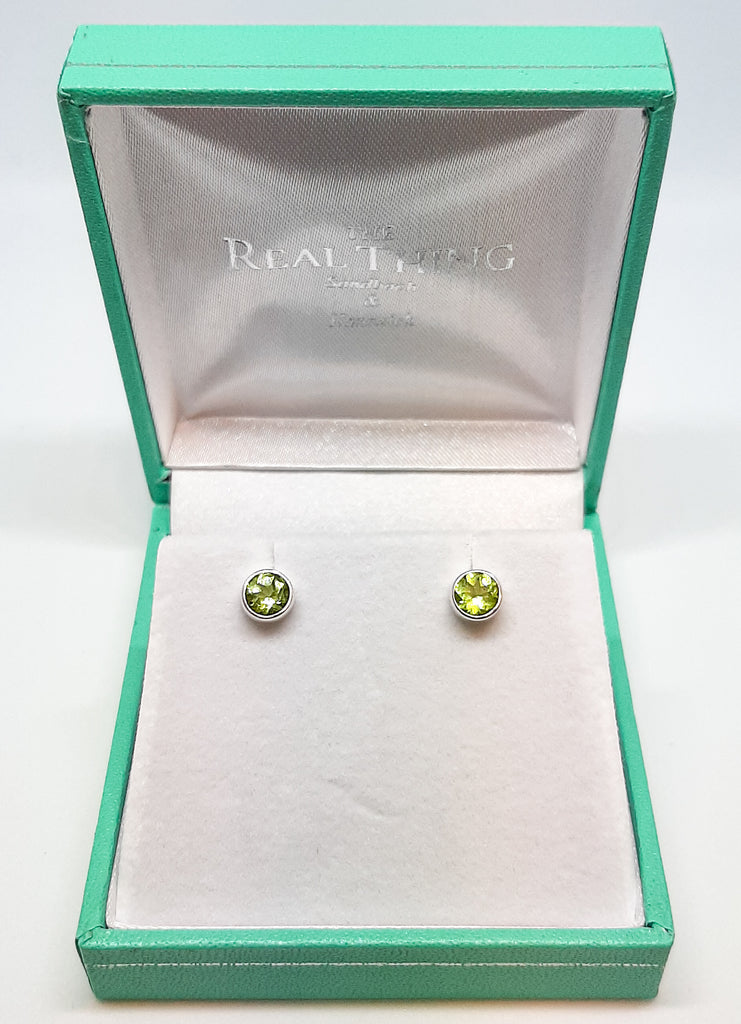 5mm Round Peridot Stud Earrings