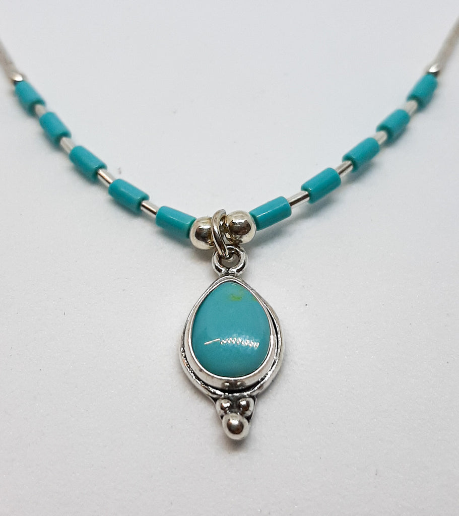 Turquoise Tear Drop Necklace