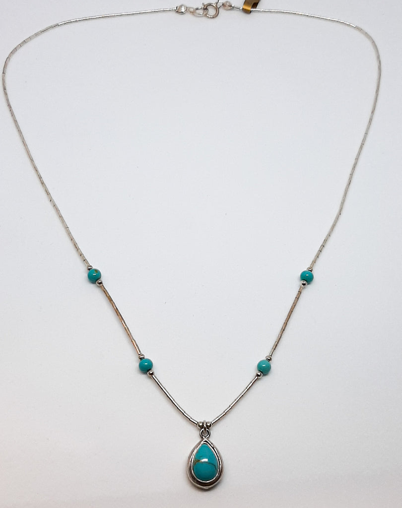 Turquoise Chunky Tear Drop Necklace