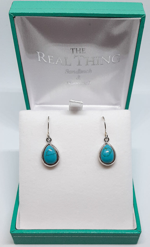 Turquoise Chunky Tear Drop Earrings