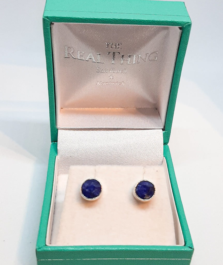 Sapphire Round 6mm Stud Earrings