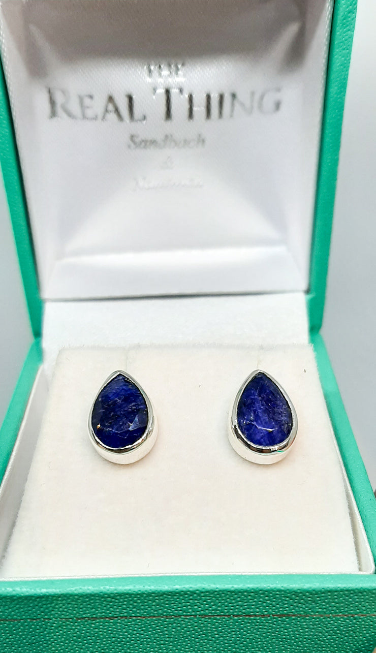 Sapphire Teardrop Stud Earrings