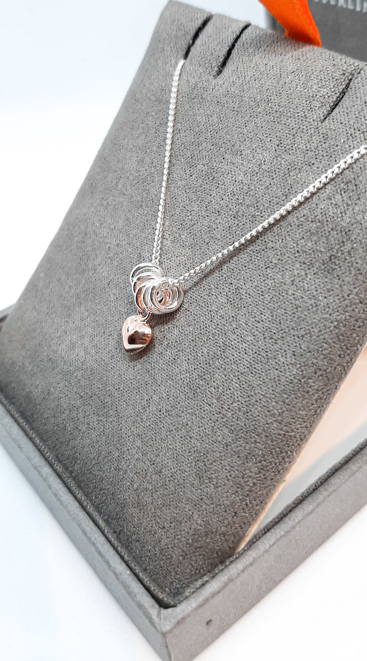 SWEETIE HEART PENDANT - ROSE GOLD