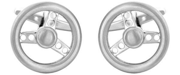 Sports Car Steering Wheel Cufflinks