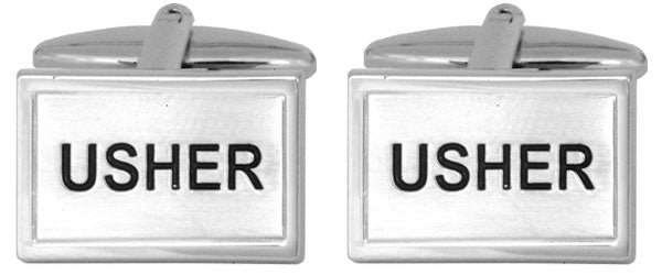 Silver Plated Gents Usher Cufflinks