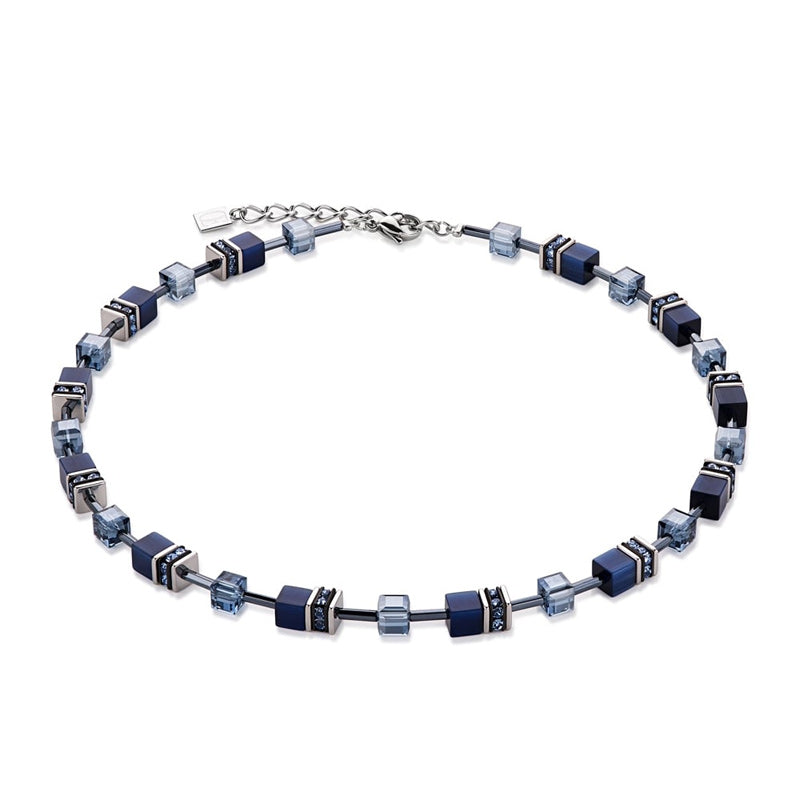 Coeur Di Lion Geo-CUBE Blissful Blue Necklace