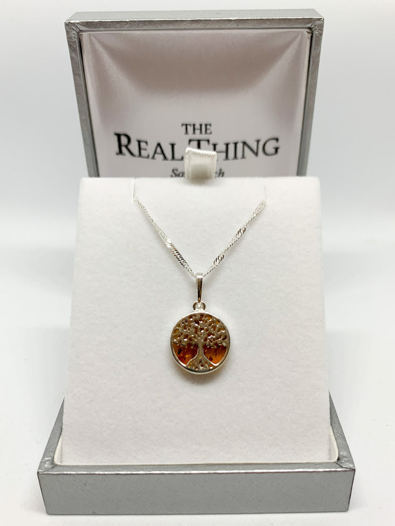 Amber Small Tree of Life Pendant