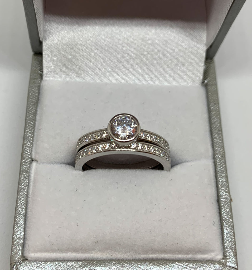 Solitaire Eternity Chanel Ring Set