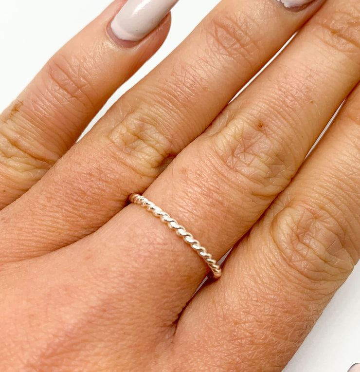 Silver Twisted Rope Ring