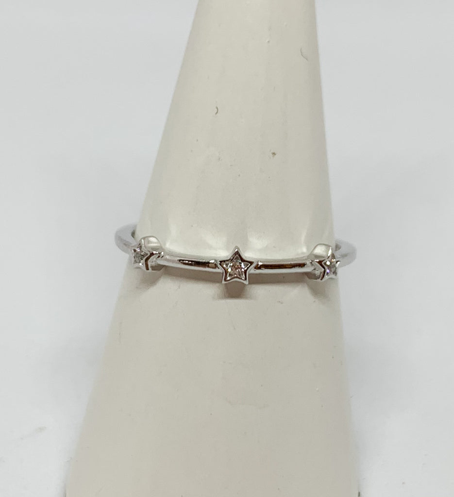 Silver Seeing Stars Ring