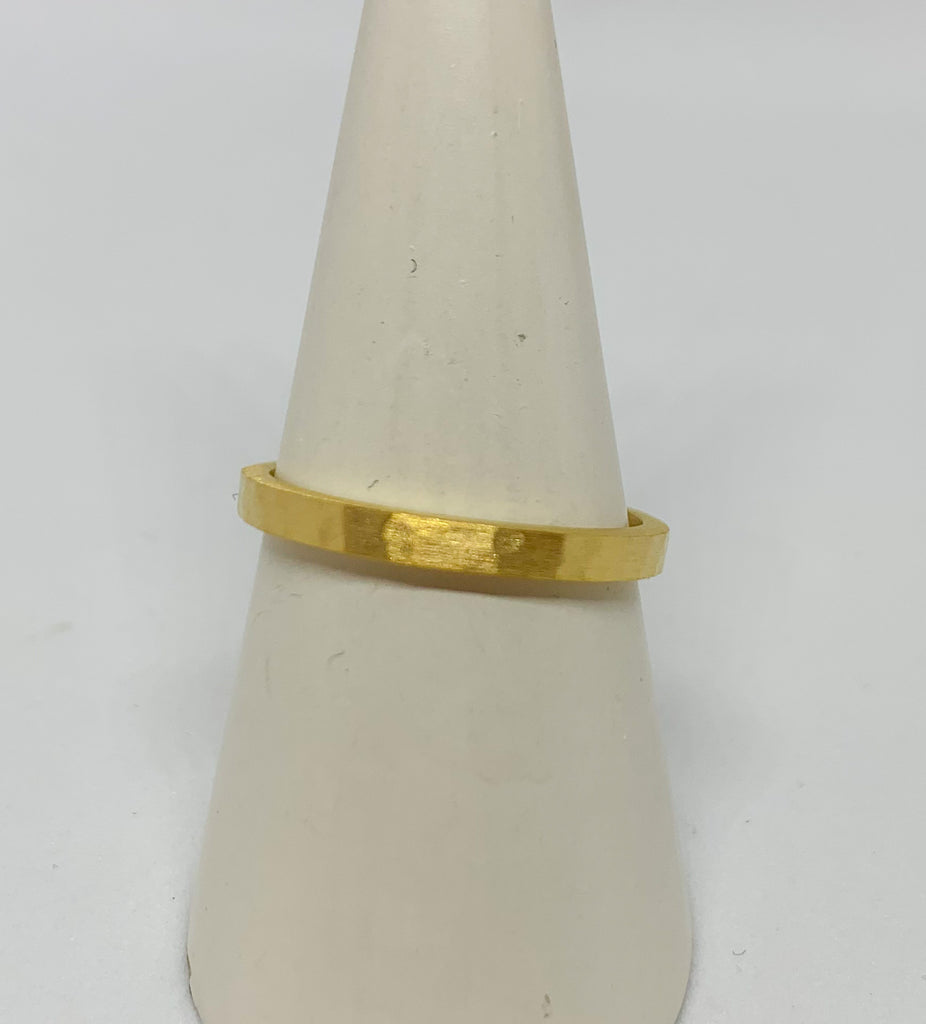 Gold Hammered Ring