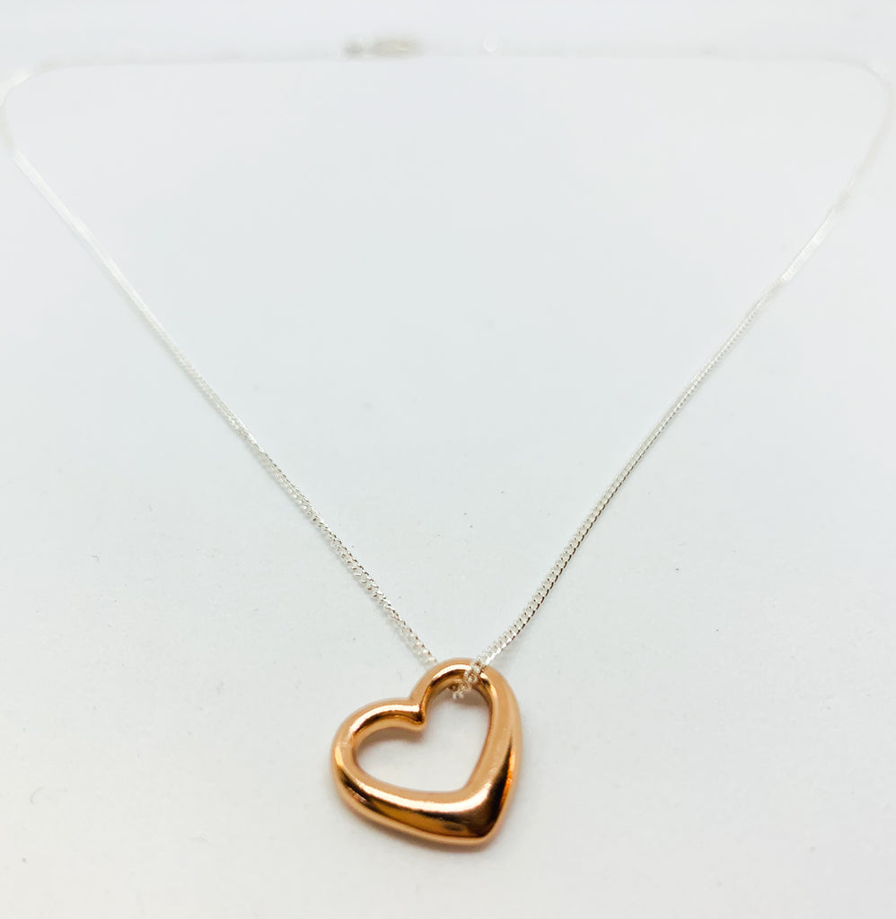 Rose Gold Tiffany Heart Necklace