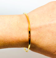 Gold Twist Bangle