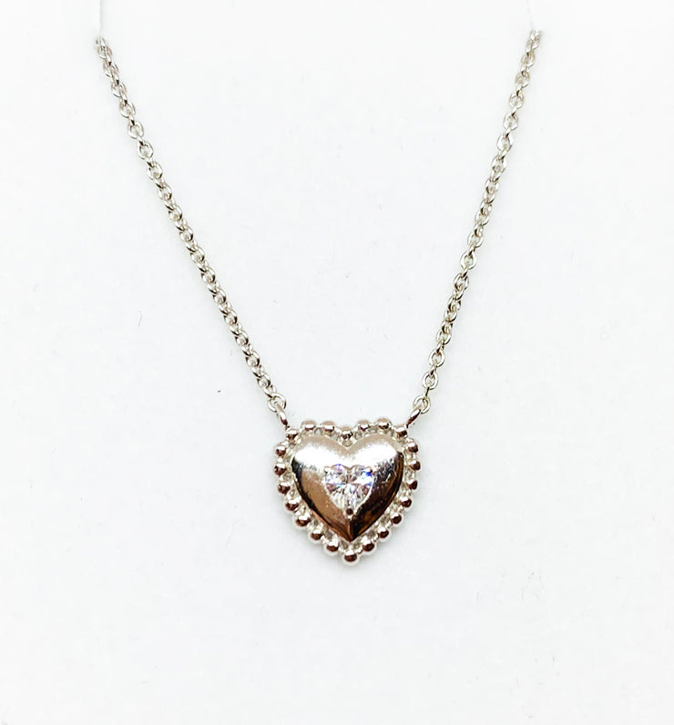 Beaded Heart Crystal Necklace