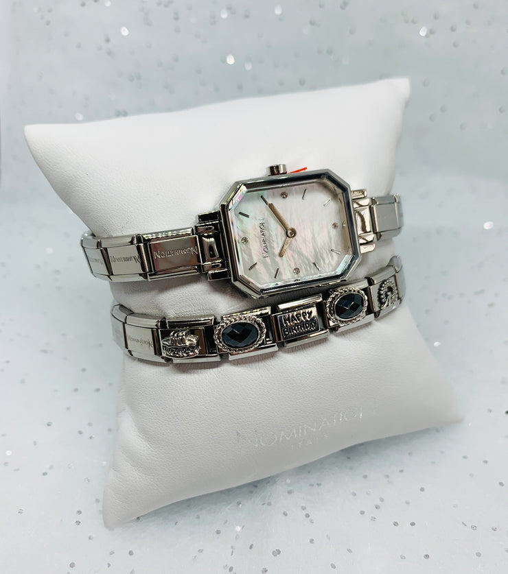 Nomination Silver Mother of Pearl Face Watch