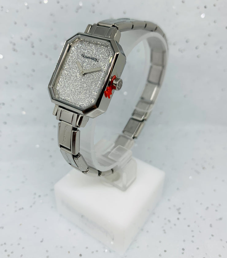 Nomination Silver Glitter Face Watch