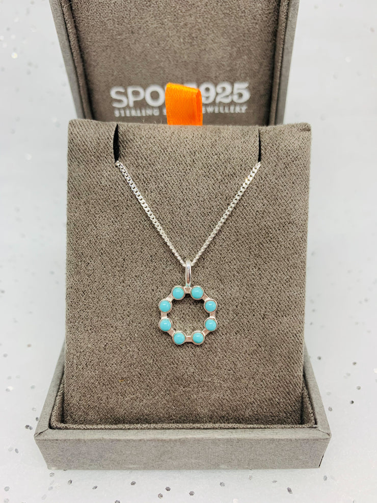 Kendall Turquoise Open Circle Pendant