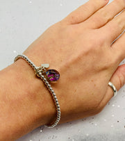 Shrieking Violet Purple Haze Beaded Bracelet