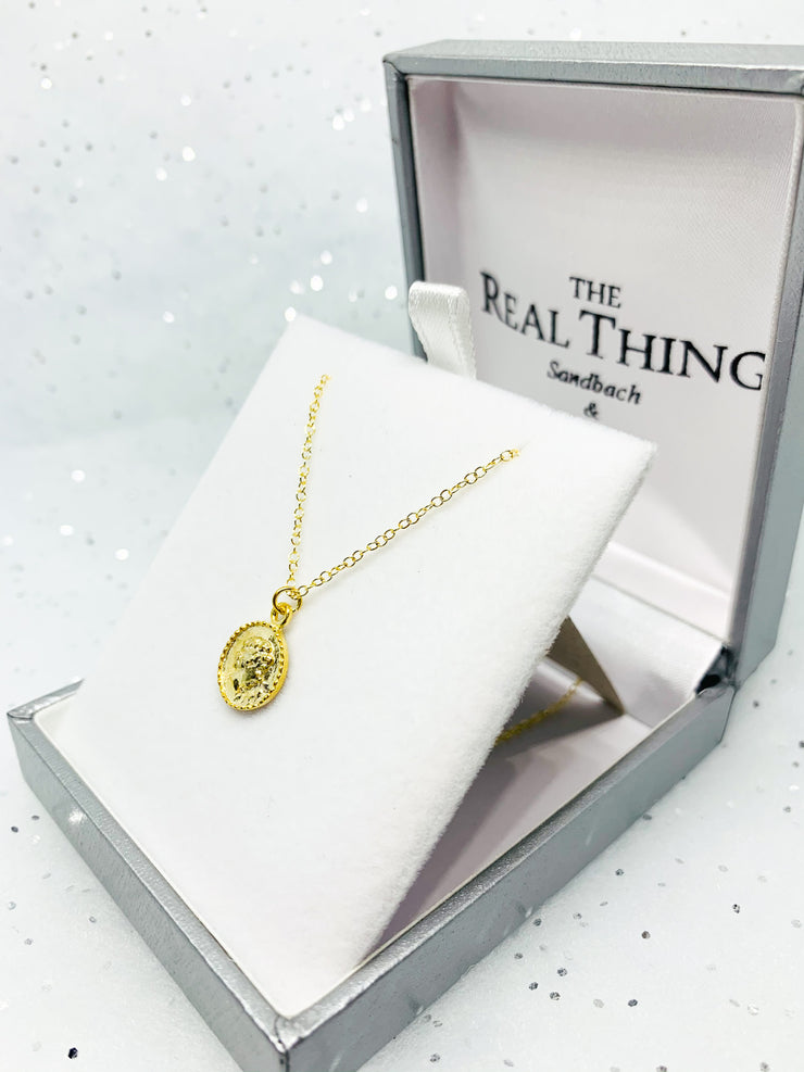Gold Small Coin Pendant