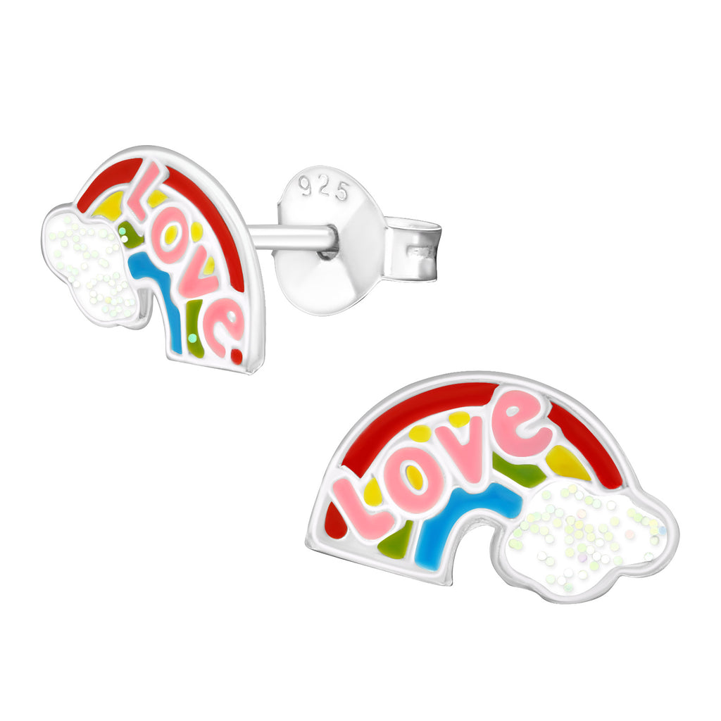 Love Rainbow Stud Earrings