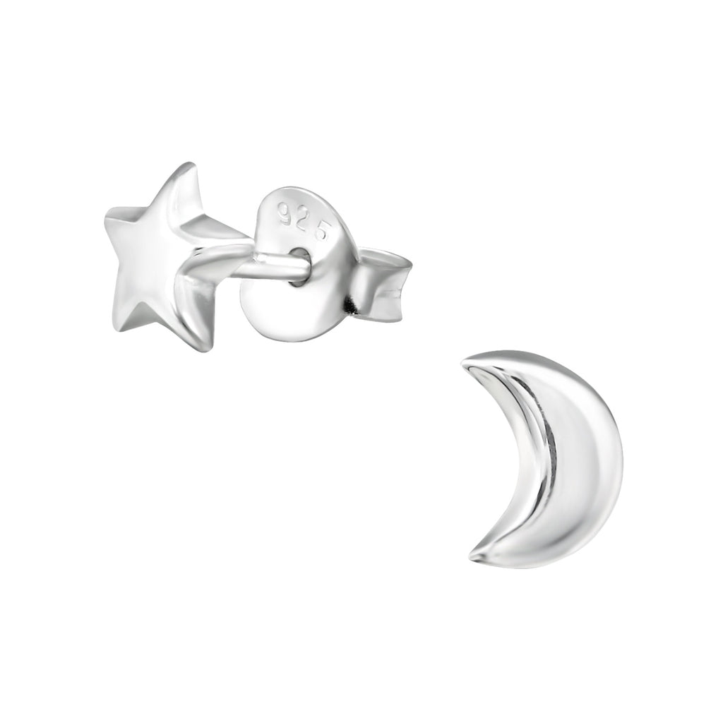 Moon & Star Odd Stud Earrings