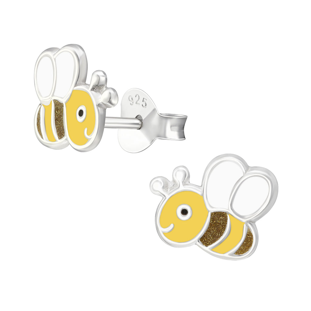 Enamel Bee Stud Earrings
