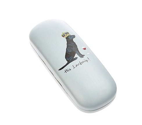 His Lordship Labrador Dog Glasses Case