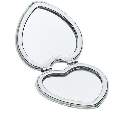 'Gorgeous!' Dragonfly Heart Compact Mirror