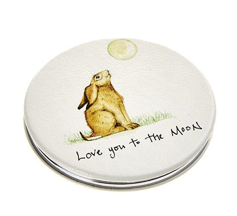 'Love You To The Moon' Hare Compact Mirror